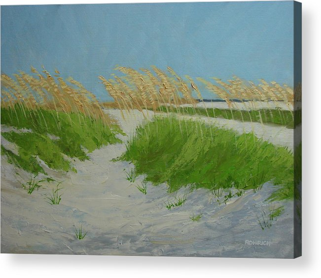Ocean Dunes Acrylic Print featuring the painting SAND DUNES No 1 by Robert Rohrich