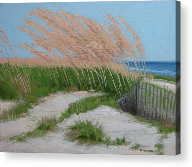 Ocean Dunes Acrylic Print featuring the painting Sand Dunes No 2 by Robert Rohrich