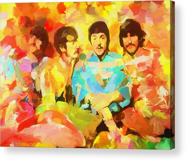 Sgt. Peppers Lonely Hearts Acrylic Print featuring the painting Sgt. Peppers Lonely Hearts by Dan Sproul