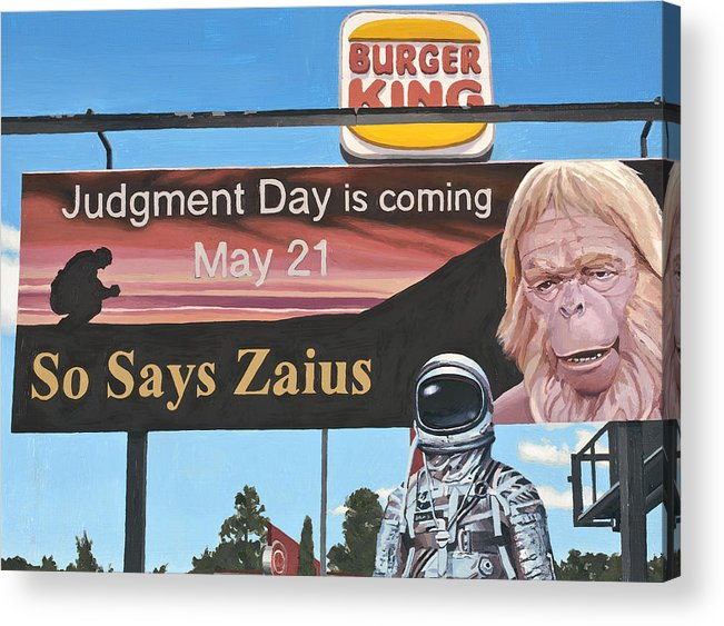 Astronaut Acrylic Print featuring the painting So Says Zaius by Scott Listfield