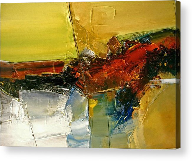 Abstract Acrylic Print featuring the painting Something Always Lies Beneath or Above by Stefan Fiedorowicz