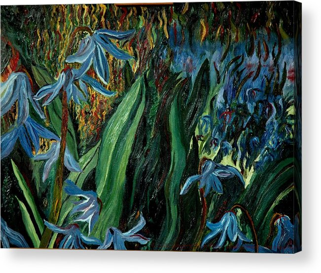 Jungle Acrylic Print featuring the painting Spring Flower by Modern Impressionism