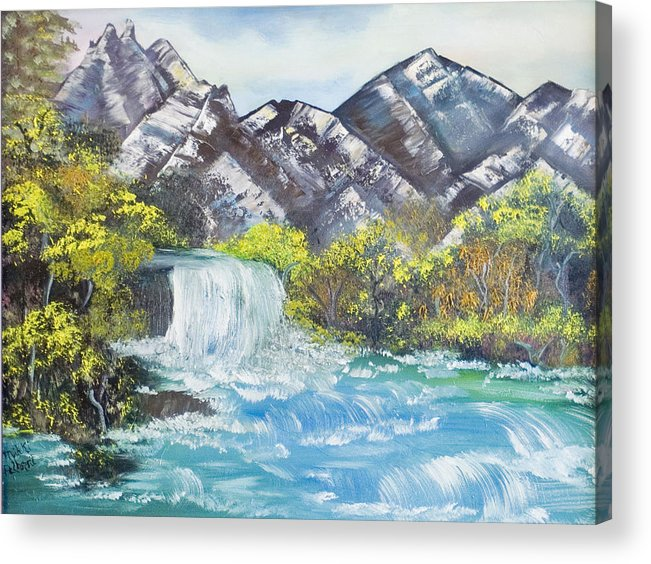 Oil Acrylic Print featuring the painting Spring Thaw by Mikki Alhart