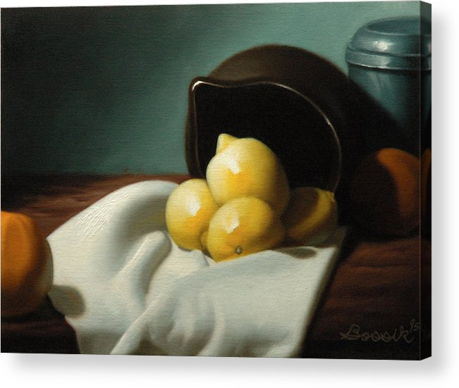 Still Life Painting Acrylic Print featuring the painting Still Life Painting Three Beauties by Eric Bossik