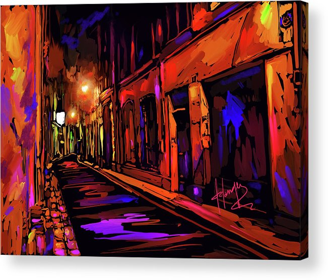 Avignon Acrylic Print featuring the painting Street In Avignon, France by DC Langer