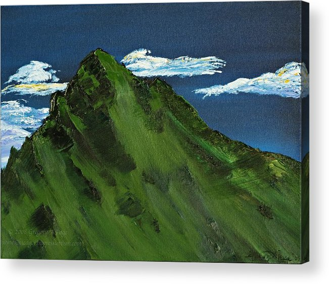 Switzerland Acrylic Print featuring the painting Swiss Alp by Modern Impressionism
