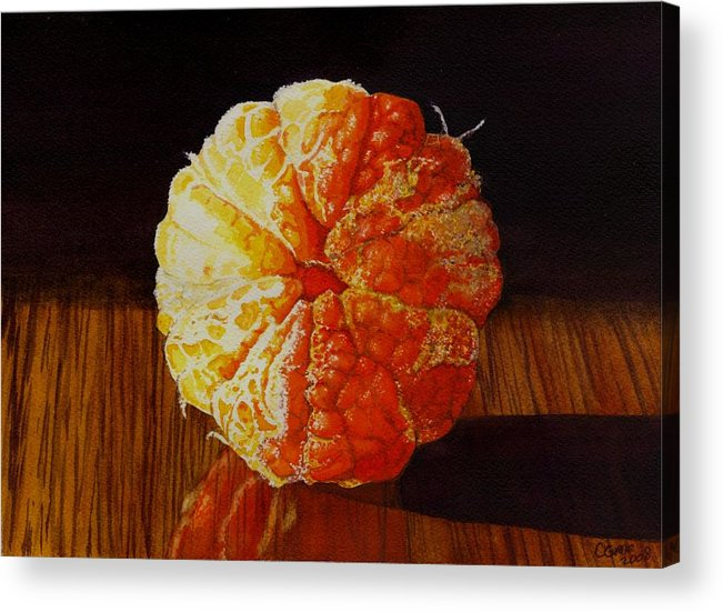 Still Life Acrylic Print featuring the painting Tangerine by Catherine G McElroy