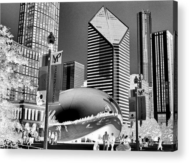 The Bean Acrylic Print featuring the photograph The Bean - 2 by Ely Arsha