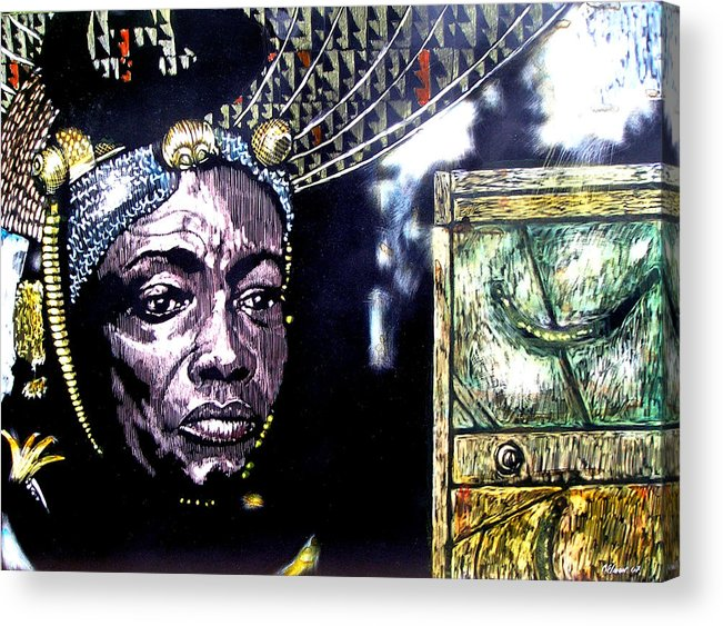 Acrylic Print featuring the mixed media The Promise Keeper by Chester Elmore