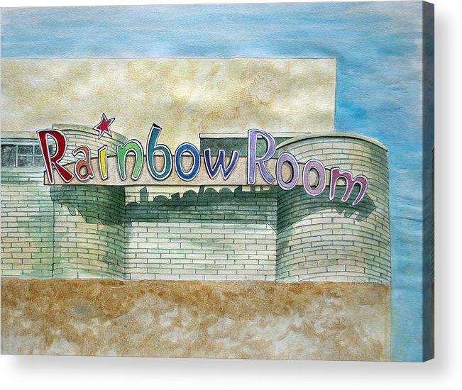 Asbury Art Acrylic Print featuring the painting The Rainbow Room by Patricia Arroyo