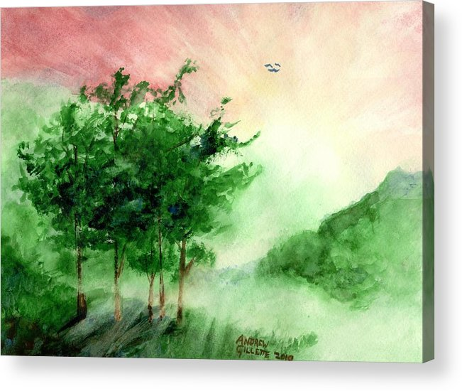 Landscape Acrylic Print featuring the painting Toward the Promised Land by Andrew Gillette