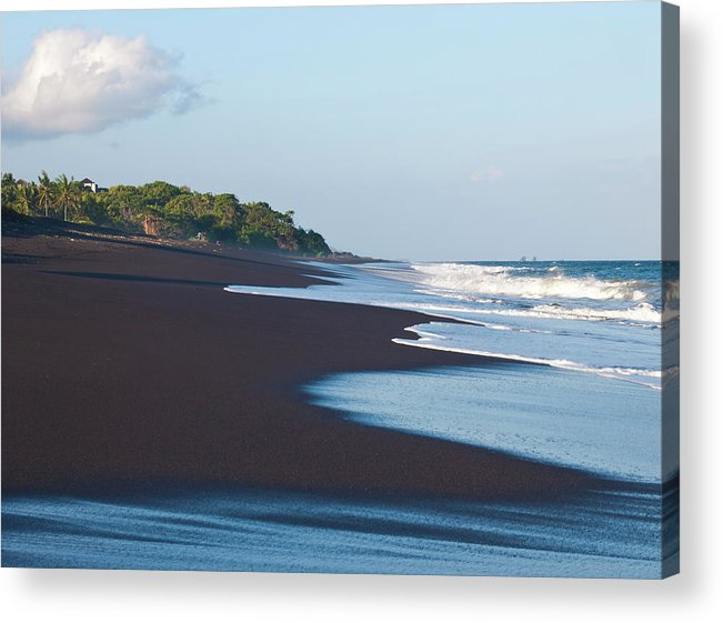 Long Acrylic Print featuring the photograph Black Sand Beach by Davorlovincic