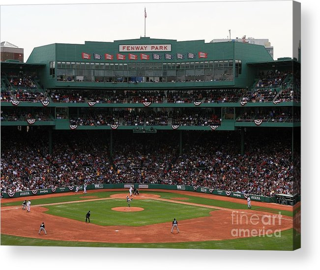 American League Baseball Acrylic Print featuring the photograph Toronto Blue Jays V Boston Red Sox by Travis Lindquist