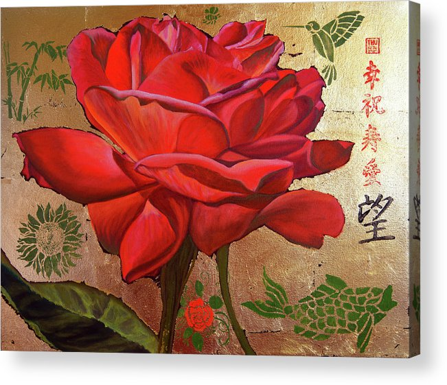 Asian Art Acrylic Print featuring the painting Unconscious Beauty by Thu Nguyen