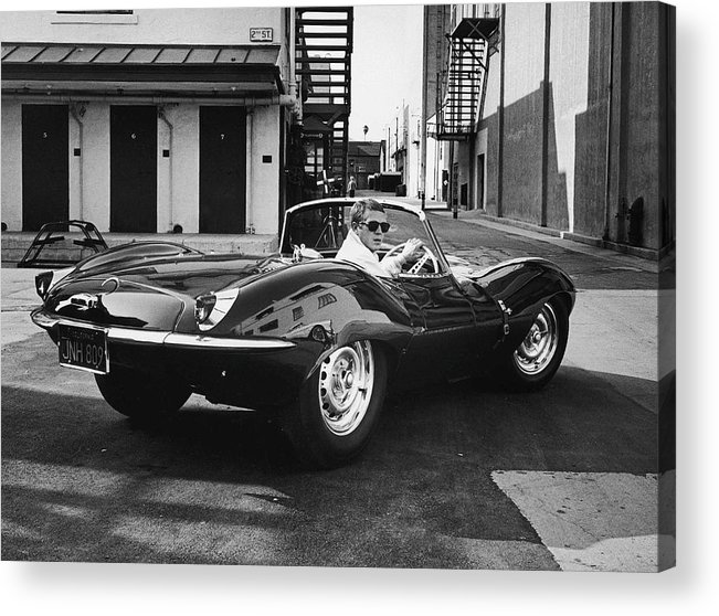 Timeincown Acrylic Print featuring the photograph Steve Mcqueen by John Dominis