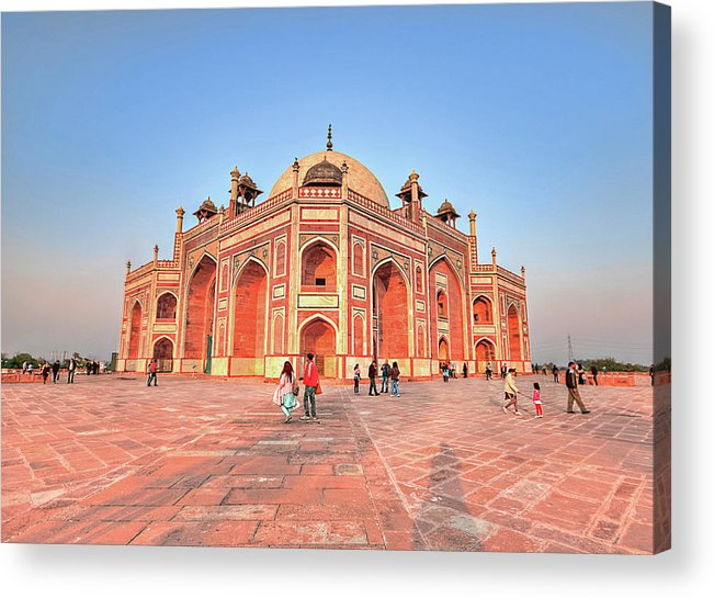 Arch Acrylic Print featuring the photograph Humayuns Tomb, New Delhi by Mukul Banerjee Photography