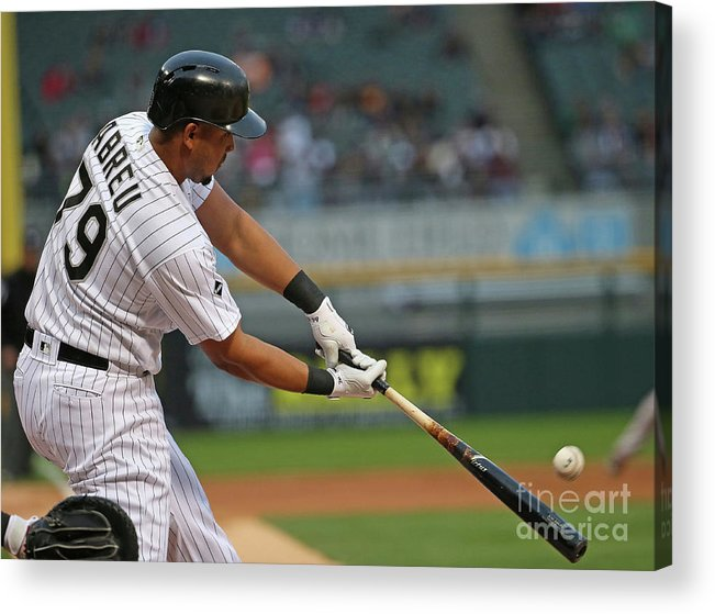 Three Quarter Length Acrylic Print featuring the photograph Boston Red Sox V Chicago White Sox by Jonathan Daniel