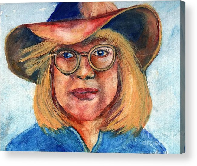 Cow Girl Acrylic Print featuring the painting Blue Jean Lady by Randy Sprout