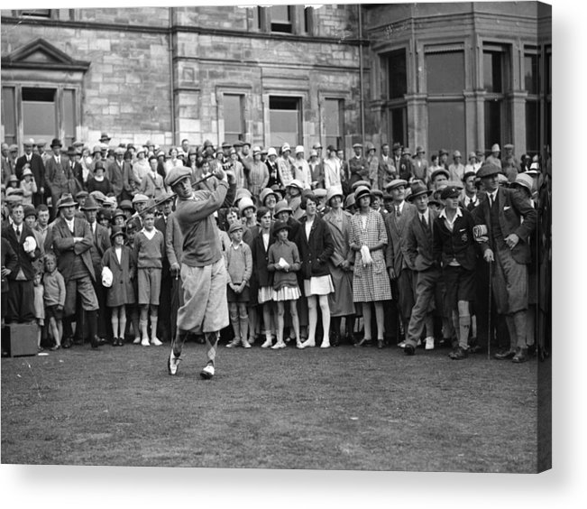 Crowd Acrylic Print featuring the photograph Bobby Jones by Topical Press Agency
