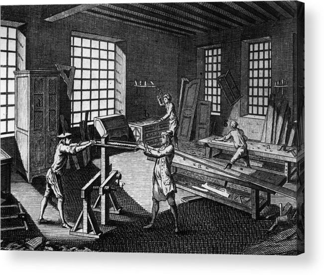 Drawer Acrylic Print featuring the photograph Cabinet Makers by Hulton Archive