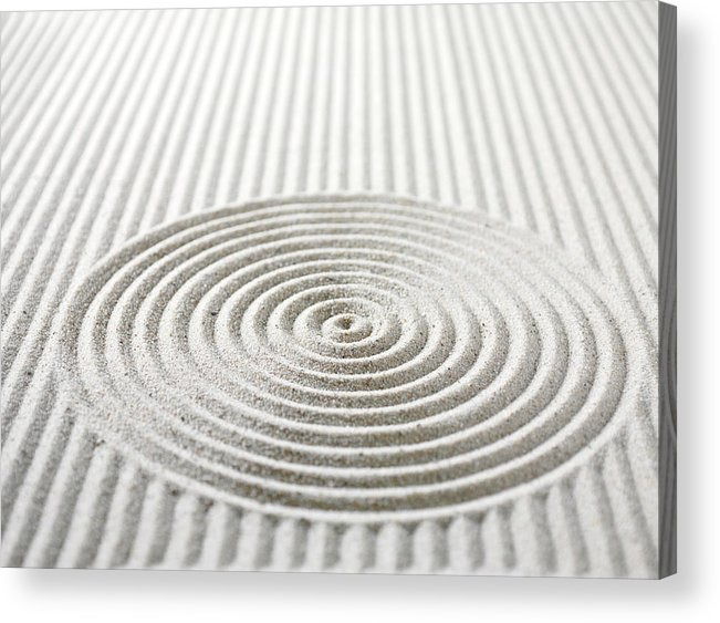 In A Row Acrylic Print featuring the photograph Circles And Lines In Sand by Wragg