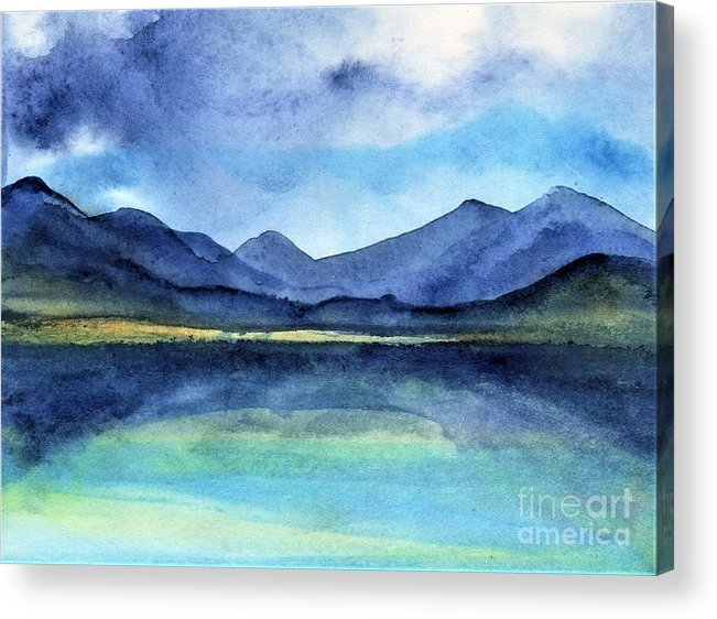 Ireland Acrylic Print featuring the painting Coast of Ireland by Randy Sprout