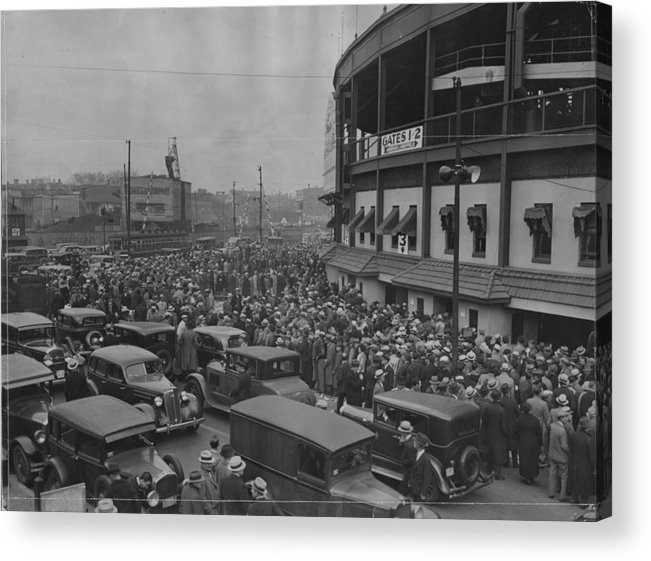 Crowd Acrylic Print featuring the photograph Crowd At Wrigley During World Series by Chicago History Museum