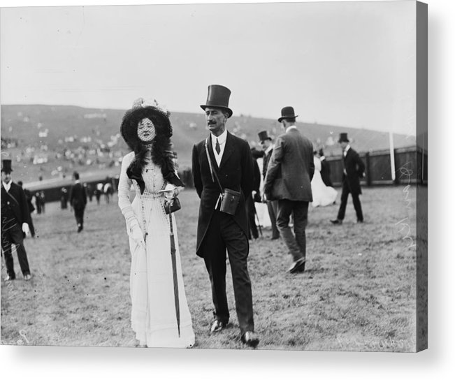 Veil Acrylic Print featuring the photograph Goodwood Racegoers by W. G. Phillips