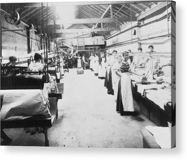 1910-1919 Acrylic Print featuring the photograph Industrial Laundering by Chaloner Woods