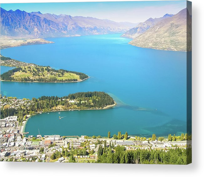 Scenics Acrylic Print featuring the photograph Lake Wakatipu by Steve Oldham