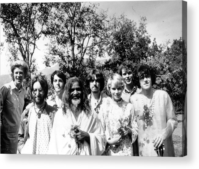 Following Acrylic Print featuring the photograph Maharishi And Pop Stars by Keystone Features