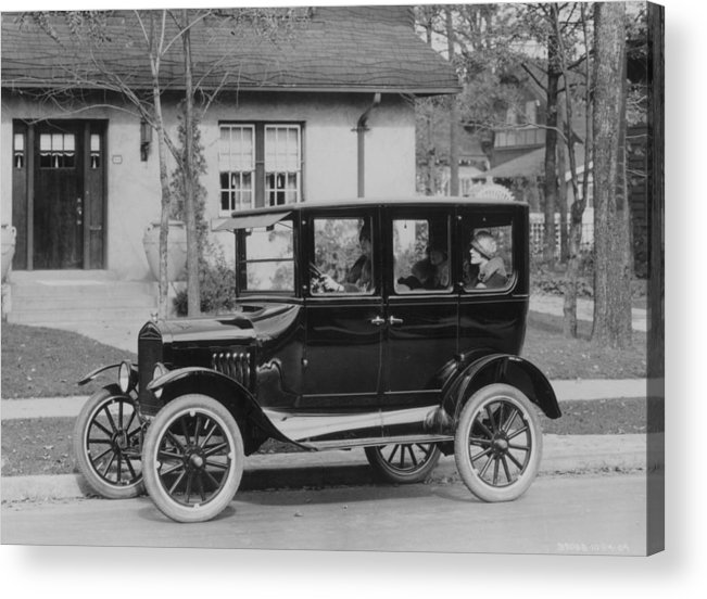Suburb Acrylic Print featuring the photograph Model T Ford by Three Lions