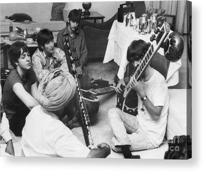 Education Acrylic Print featuring the photograph Musician George Harrison Receiving by Bettmann