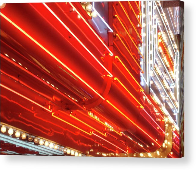 Downtown District Acrylic Print featuring the photograph Neon Lights Downtown Las Vegas by Jill Tindall