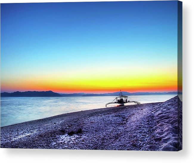 Water's Edge Acrylic Print featuring the photograph North Cay Island, Palawan, Philippines by Tomasito!