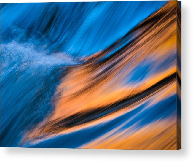 River Acrylic Print featuring the photograph On The Golden River by John Fan
