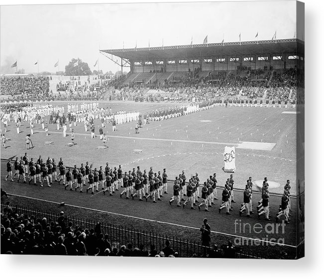 The Olympic Games Acrylic Print featuring the photograph Parade Opening Olympic Games by Bettmann