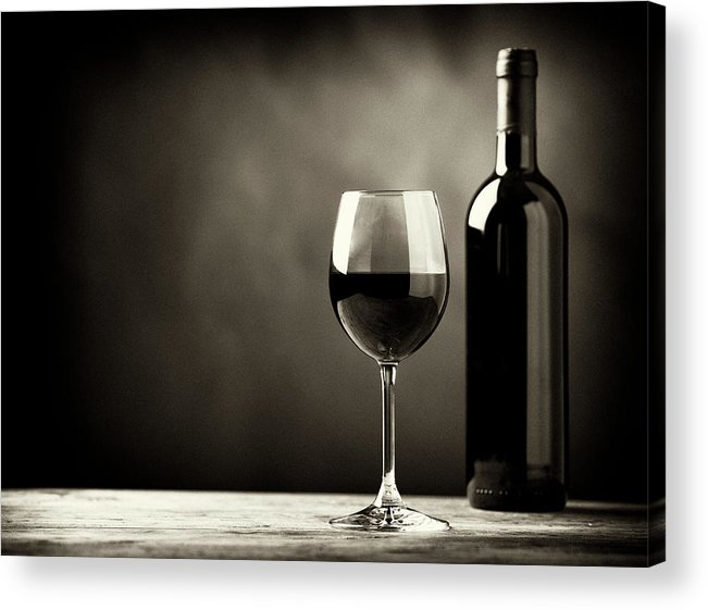 Alcohol Acrylic Print featuring the photograph Red Wine by Kaisersosa67