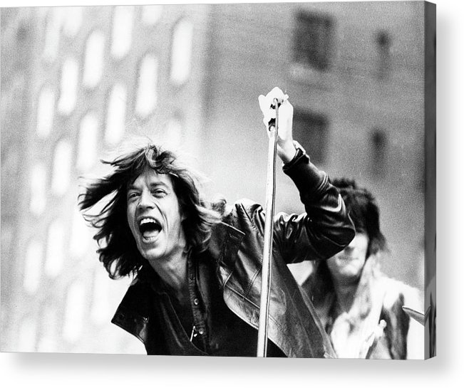 Mick Jagger Acrylic Print featuring the photograph Rolling Stones On Fifth Avenue by Fred W. McDarrah