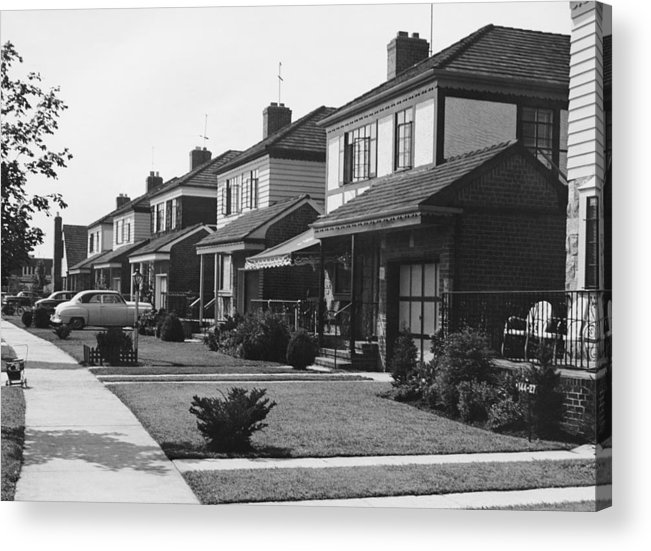 1950-1959 Acrylic Print featuring the photograph Row Of Houses by George Marks