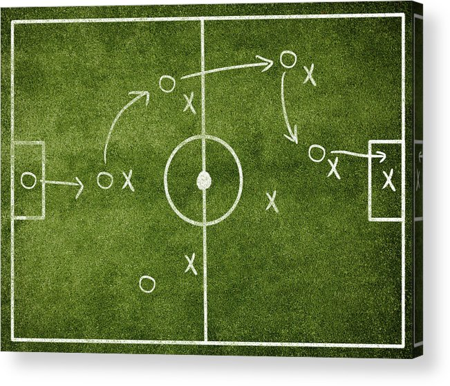 Rectangle Acrylic Print featuring the photograph Soccer Strategy by Goldmund
