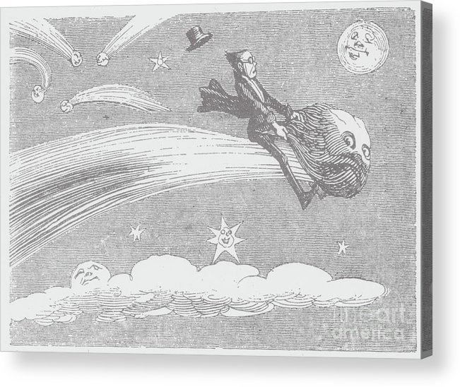 Art Acrylic Print featuring the photograph Woodcut Illustration Of A Space by Bettmann