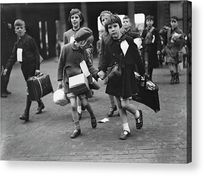 Child Acrylic Print featuring the photograph World War II, 11th June 1944, London by Popperfoto