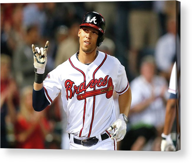 Atlanta Acrylic Print featuring the photograph Andrelton Simmons by Kevin C. Cox