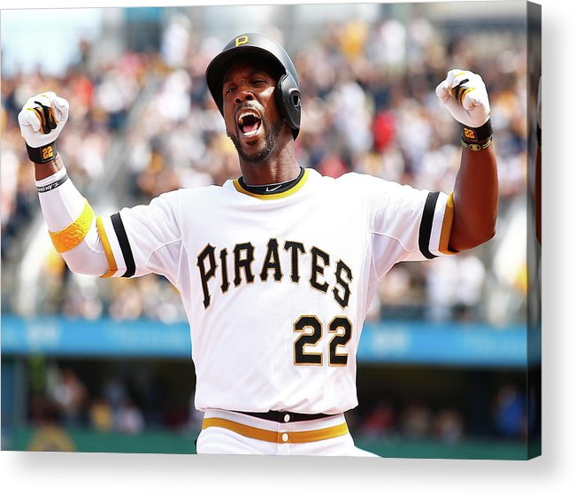 Following Acrylic Print featuring the photograph Andrew Mccutchen by Jared Wickerham
