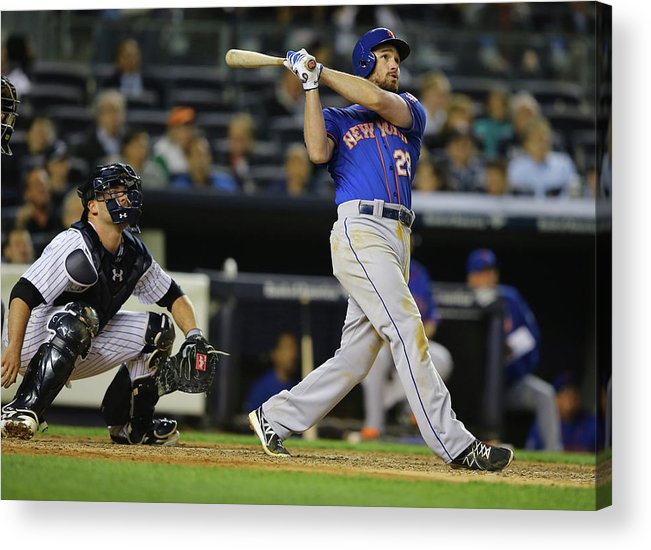American League Baseball Acrylic Print featuring the photograph Daniel Murphy by Al Bello
