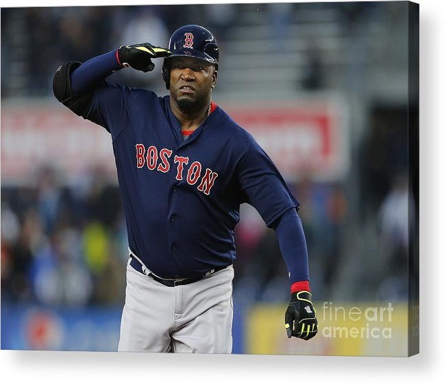 Three Quarter Length Acrylic Print featuring the photograph David Ortiz by Rich Schultz