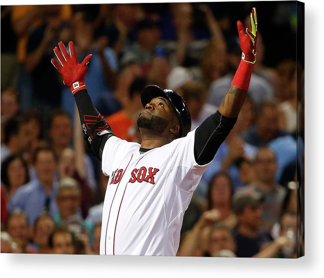 People Acrylic Print featuring the photograph David Ortiz by Winslow Townson
