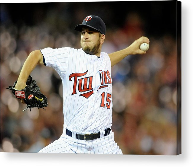Ninth Inning Acrylic Print featuring the photograph Glen Perkins by Hannah Foslien