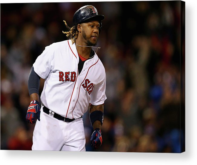 People Acrylic Print featuring the photograph Hanley Ramirez by Maddie Meyer